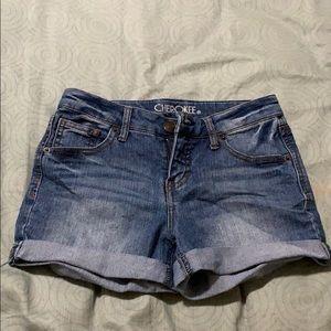 Cherokee jean shorts.
